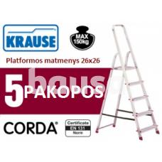 Buitinės kopėčios 5 pakopų Krause (000729)