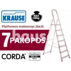 Buitinės kopėčios 7 pakopų Krause (000743)