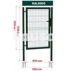 Segmentiniai varteliai 1000 x 1230 mm, žali
