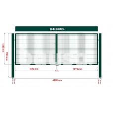 Segmentiniai vartai 4000 x 1230 mm, žali
