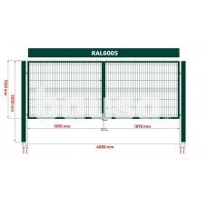Segmentiniai vartai 4000 x 1530 mm, žali