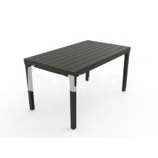 Plastikinis stalas Sumatra, 138 x 80 x 72 cm, pilkas