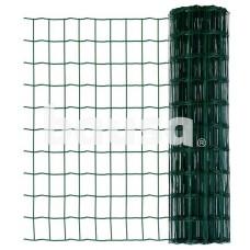 Suvirintas tinklas, 2,1 x 100 x 75 mm, 25 m, žalias