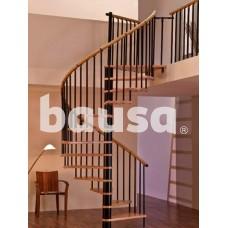 Sraigtiniai palėpės laiptai MINKA, Spiral Decor Black