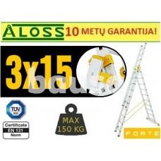 Universalios kopėčios 3d x 15pak Forte (8615)