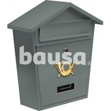 Dėžutė pašto pilka, 2 raktai 380x320x105 mm VOREL 78581