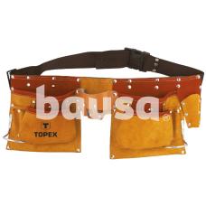 Diržas įrankiams su 14 kišenių, odinis Topex 79R405