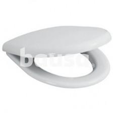 Antibakterinė sėdynė su dangčiu Scandia, plastikiniai lankstai