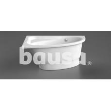 Akmens masės vonia MIA 1400x900 mm, dešininė, balta