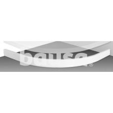 Panelė dušo padėklui Flat Round 800x800 mm, balta