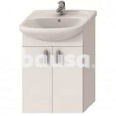 Vonios spintelė Lyra Pack New su 53 cm praustuvu, 2 durelių, balta