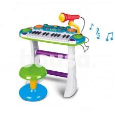 Muzikinė klaviatūra su mikrofonu žalia B15