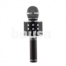 Juodas karaokė mikrofonas - kolonėlė su balso keitimo efektais WS-858