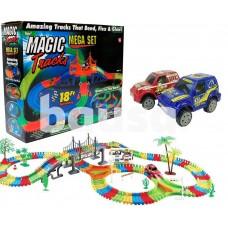 Žaislinė lenktynių trasa su šviečiančia mašinėle (360 det) 128-8