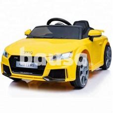 Elektromobilis vaikams AUDI TT RS 12V geltonas (WDJE1198)