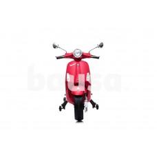 Stilingas elektrinis raudonas motoroleris su šoniniais ratukais CH8820 (WDCT-728 VESPA)