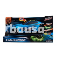 Žaislinė lenktynių mašina su šviesomis ir muzika, mėlynos spalvos, 27 cm
