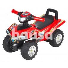Žaislinis paspiriamas keturratis motociklas 551, raudonas