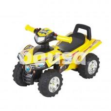 Žaislinis paspiriamas keturratis motociklas 551, geltonas
