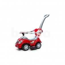 Žaislinė paspiriama mašina Baby Care 558W su rankena, raudona