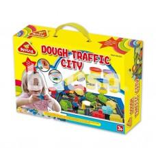 Modelino rinkinys PEIPEILE Dough Traffic City 3910