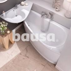 Akrilinė asimetriška vonia Ravak Avocado, 160x75 R