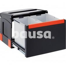 Šiukšliadėžė FRANKE, Cube 50, automatinis atidarymas, 14 l + 18 l