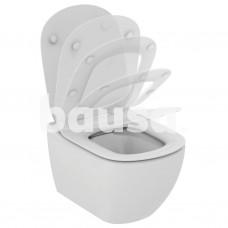 Pakabinamas WC Ideal Standard Tesi Rimless, su paslėptais tvirtinimais