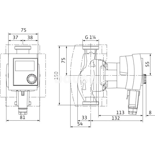 Recirkuliacinis siurblys Wilo, Stratos Pico-Z, 20/1-6 150 mm