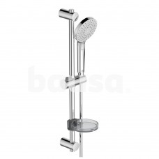 Dušo komplektas Ideal Standard IdealRain, Evo Round, 60 cm su 110 mm dušo galvutė ir lentynėle