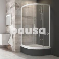 Pusapvalė dušo kabina Ravak Blix, BLCP4-90 Sabina, balta+stiklas Transparent