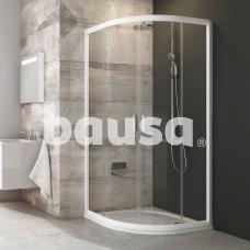 Pusapvalė dušo kabina Ravak Blix, BLCP4-80, balta+stiklas Transparent