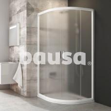 Pusapvalė dušo kabina Ravak Blix, BLCP4-80, balta+stiklas Grape