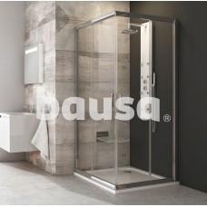 Kvadratinė dušo kabina Ravak Blix, BLRV2-80, blizgi+stiklas Transparent