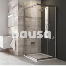 Kvadratinė dušo kabina Ravak Blix, BLRV2-80, satinas+stiklas Transparent