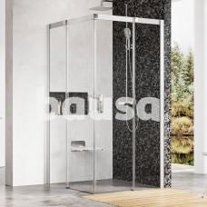 Dušo kabina Ravak Matrix, MSRV4-90/90, satinas+Transparent