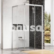 Dušo kabina Ravak Matrix, MSRV4-100/100, satinas+Transparent