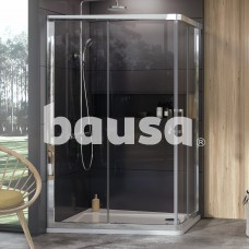 Dušo kabina Ravak 10°, 10AP4-120x90, blizgi+Transparent (dvi sienelės)
