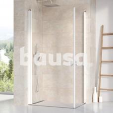 Stačiakampės dušo kabinos sienelė Ravak Chrome, CRV1-90, balta+stiklas Transparent