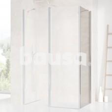 Stacionari sienelė Ravak Chrome, CPS-80, blizgi+stiklas Transparent