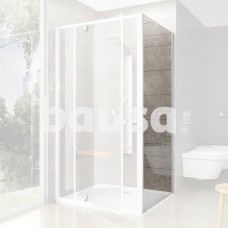 Stacionari sienelė Ravak Pivot, PPS-100, balta+stiklas Transparent