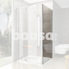 Stacionari sienelė Ravak Pivot, PPS-100, blizgi+stiklas Transparent