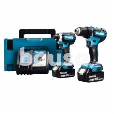 Akumuliatorinių įrankių komplektas MAKITA DLX2289TJ, 18 V, 2 x 5 Ah, komplekte DDF485 ir DTD153