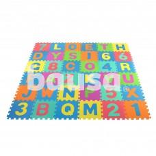Minkštas kilimėlis - dėlionė 29x29cm 36el.