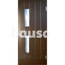 Plieninės įėjimo durys su stakta BASIC B028W95 su stiklu