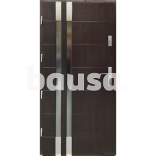 Lauko durys P101 riešuto spalvos 102-208.2 (90), kairės