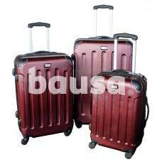 Plastikinis lagaminas MC3002, raudonos spalvos, 48 x 30 x 70 cm