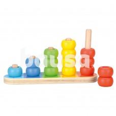 """Medinis lavinamasis žaislas """"Rutuliukai"""", 12 mėn+"""