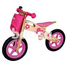 Medinis balansinis dviratis (rožinis)