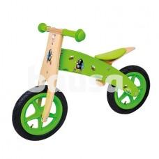 """Medinis balansinis dviratis """"Mažasis kurmiukas"""" (žalias)"""